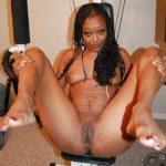 photos chatte femme noire
